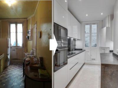 Rénovation complète à Montmartre